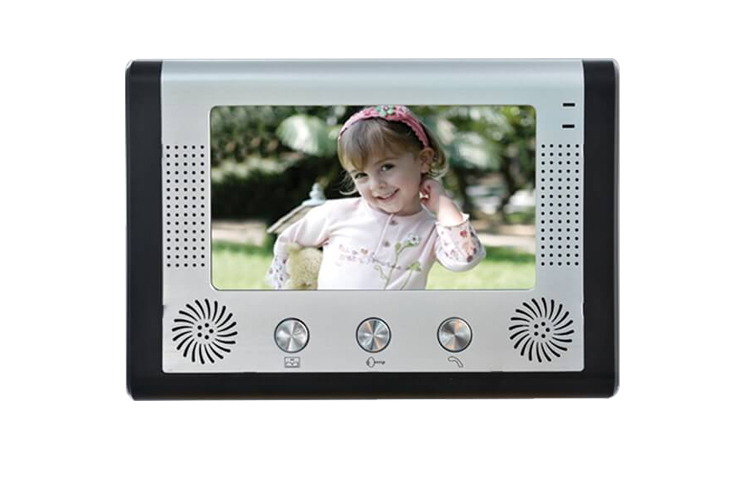 7 Inch Big LCD Monitor IR Night Vision Wired Intercom Video Door Phone