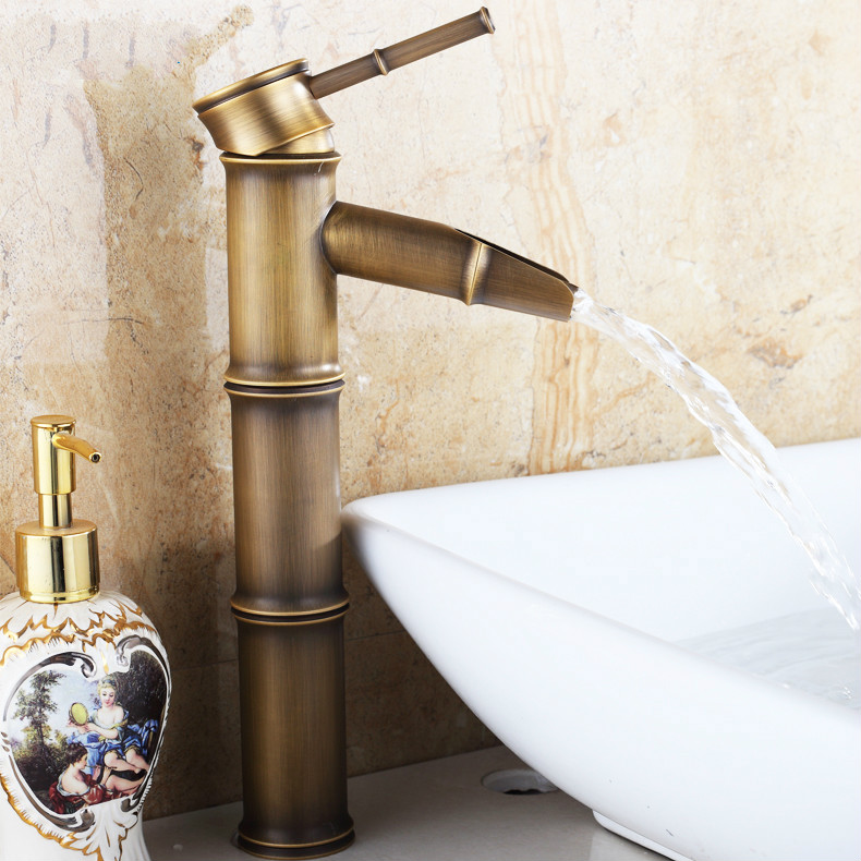 European Antique Faucet Hot Stage Basin Brass Bamboo Heightening Southeast Asia Faucet Hot And Cold Water TapEuropean Antique Faucet Hot Stage Basin Brass Bamboo Heightening Southeast Asia Faucet Hot And Cold Water Tap