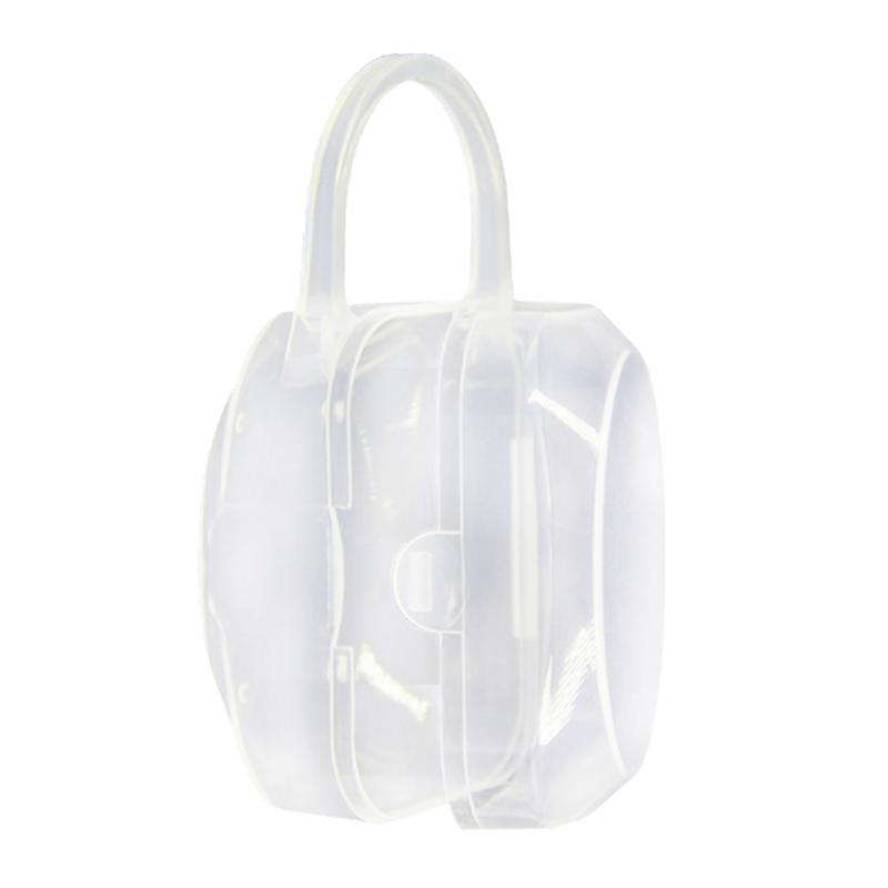 2018 New Portable Infant Baby Pacifier Nipple Storage Box Dust Pacifier Storage Box Transparent Pacifier Cradle Case Holder #15