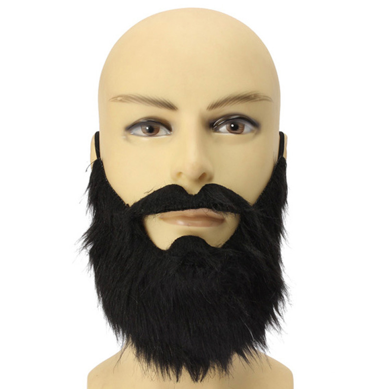 Fancy Dress Fake Beards Halloween Costume Party Moustache Black Halloween for Pirate Dwarf Elf James Harden Cosplay LS