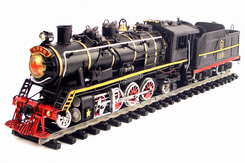 Wrought iron vintage model Old Chinese train decorations gifts handicrafts Antique classical decoration or birthday gift