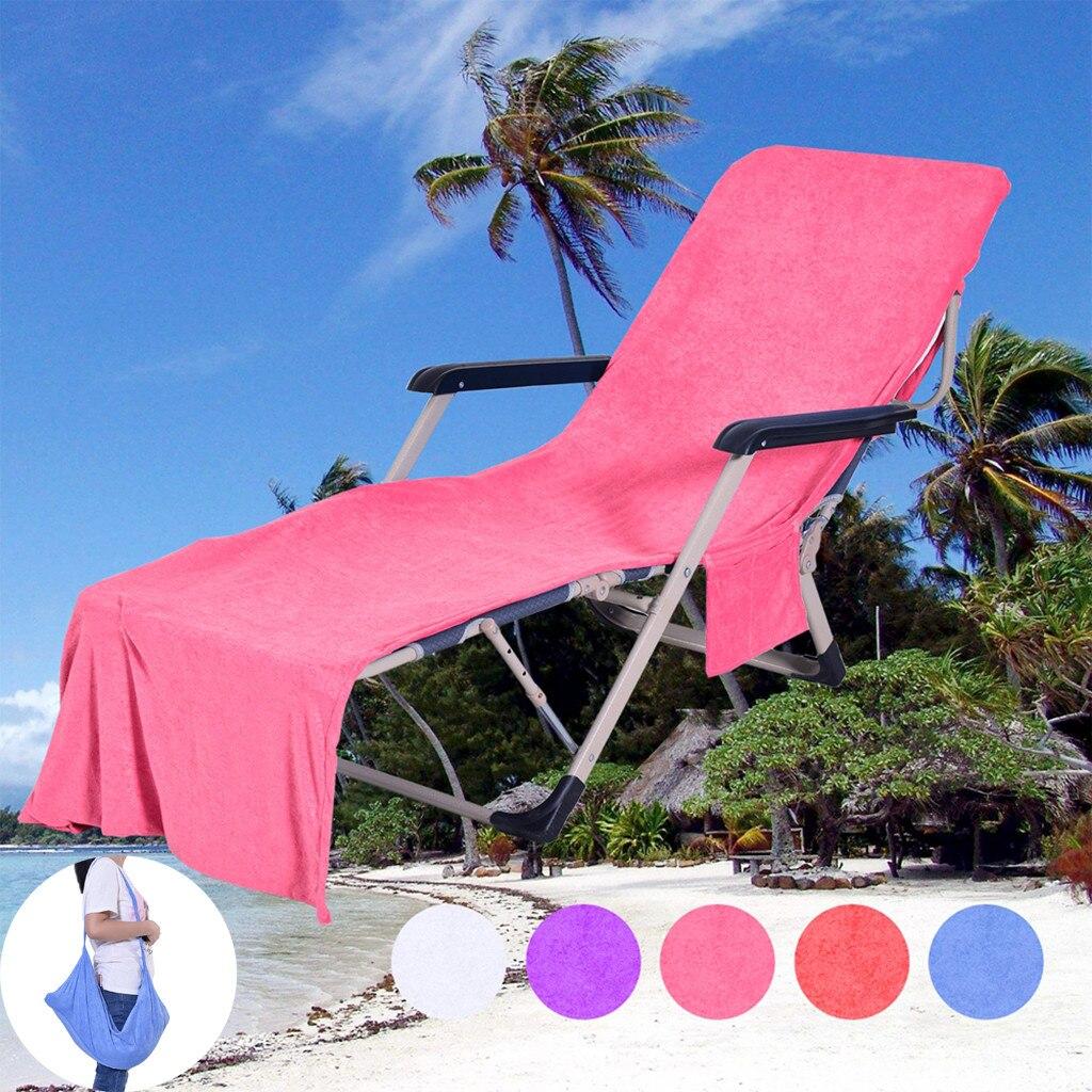 Punctual Chair Beach Towel Lounge Chair Beach Towel Cover Microfiber Pool Lounge Chair Cover With Pockets Quick Drying 82.5''x27.5'' Home Textile