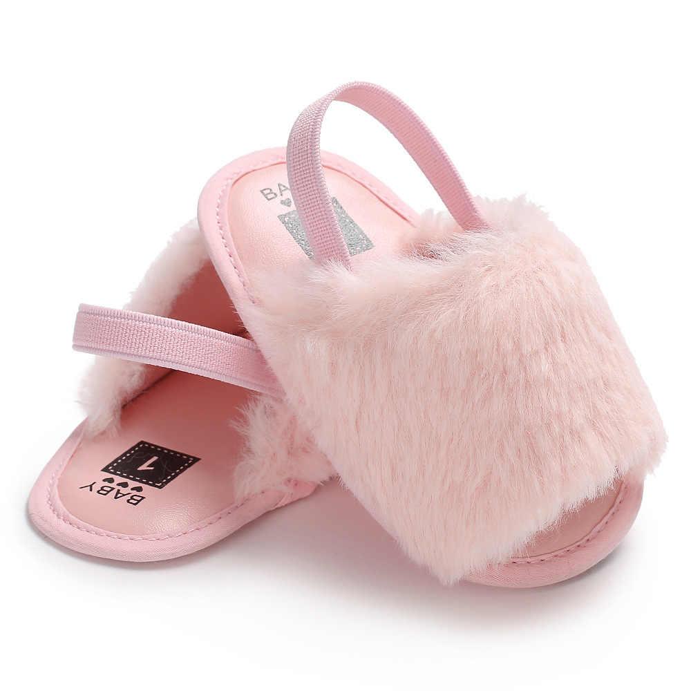 bbace954925 2019 sandalias de piel sintética rosa de verano para bebés y niñas zapatos  de bebé bonitos