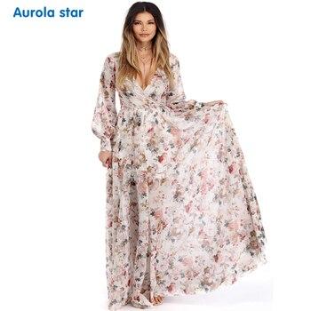 63d5ece94 Maternidad sesión de fotos vestido largo vestido Casual estampado Floral embarazo  ropa vestido MAXI largo embarazo para mujeres embarazadas