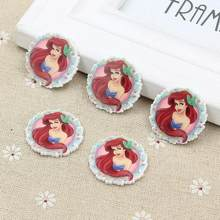 50pcs/lot Cartoon Shopping Flatback Resin for Hair Bows Kawaii princess Planar Resin DIY Crafts for Home Decorations(China)