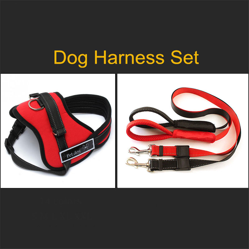Professional Adjustable Pet Dog Harness Pets Collar Camo Outdoor Dog Harness Hand Strap for Small Medium Large Dogs S M L XL XXL