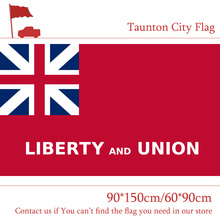3x5 Feet Custom 100d Polyester Banners US Taunton City Flag Of Massachusetts State 90*150cm 60*90cm For Campaign Event