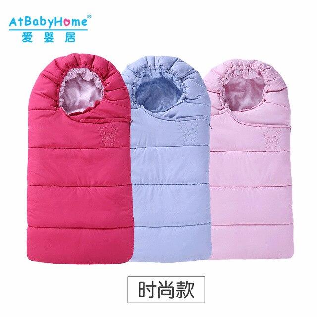 2016 Warm Envelope for Newborn Fur Stroller Baby Sleeping Bag Winter Coral Fleece Stroller Cover Blanket Baby Sleeping Bag