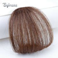 Bybrana Remy Hair Bangs Brazilian Human Hair Extensions Natural 1Pc Human Clip In 4 Colors Free