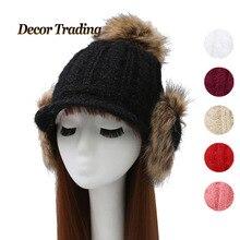 Новый 2016 осень зима уха защита женщины hat шапочки трикотажные хлопок hat мода gorro cap