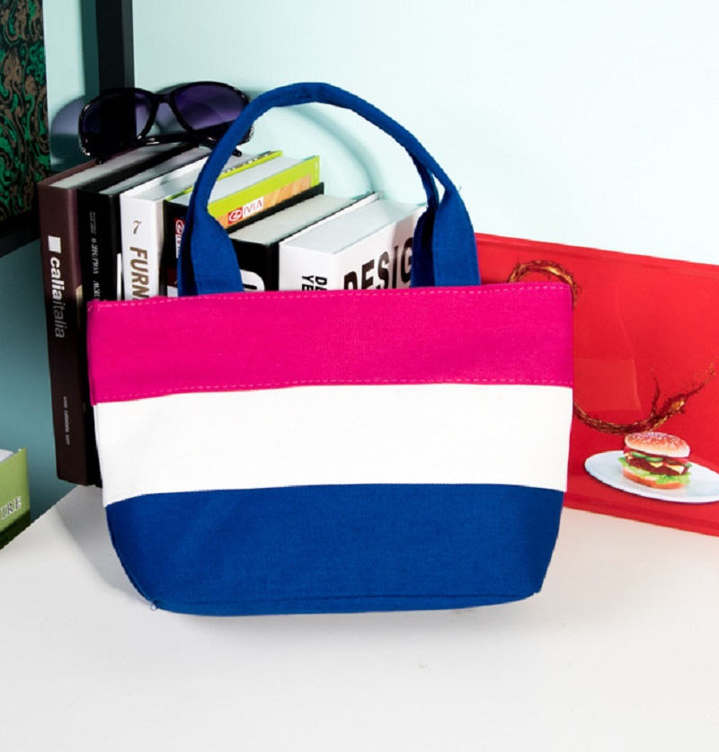 f02ee5b3ed Tela patchwork a strisce stampa tote della borsa delle signore delle donne  piccolo sacchetto di corsa del sacchetto bolsa feminina bolso mujer per le  ...