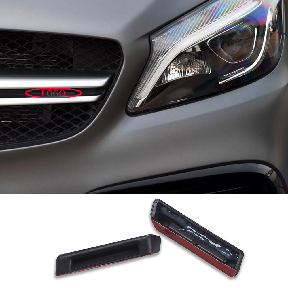 Auto Products Car Racing <font><b>Grills</b></font> Sticker Front Sticker For AMG Mercedes Benz AMG W205 W212 W211 <font><b>W210</b></font> W204 W202 W206 W176 W163 image