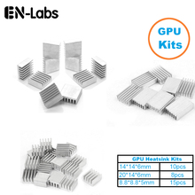 En-Labs 1Set/33pcs Aluminum Heat Sink Radiator Heatsink  Cooler Kit for GPU Graphics Card ,VGA Video Card Heat Dissipation