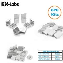 En-Labs 1 Set/33 stücke Aluminium Kühlkörper Kühler Kühlkörper Kühler Kit für GPU Grafikkarte, VGA Video Karte Wärmeableitung