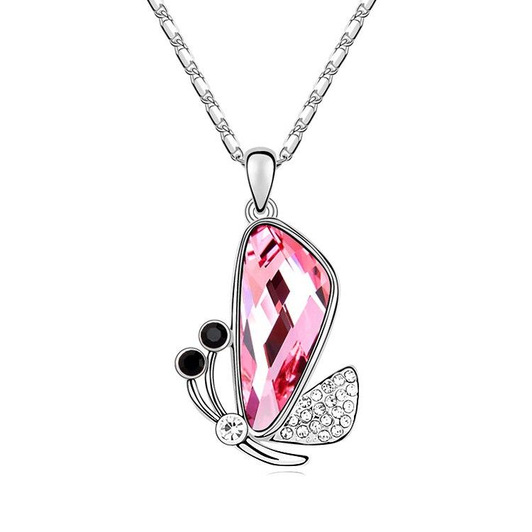 eb73267e210e Regalo de día de San Valentín colgante mariposa collar de cristales de  Swarovski collar alas ...