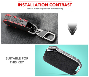 Image 2 - 3/4 כפתורים מרחוק חכם מפתח מקרה עבור Kia Sportage Ceed סורנטו Cerato פורטה 2017 2018 2019 עור Fob מעטפת כיסוי עור מחזיק