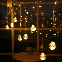 LED Christmas Decorative Lamp Transparent Glass Ball 3M icicle Light 220V/110V Xmas Wedding Garden Party home Decoration