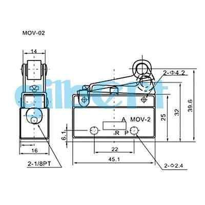 MOV-02 G1 8 Neum/ático Rosca Neum/ática Palanca de Rodillo V/álvula Mec/ánica V/álvulas de Control Manual 0-0.8MPa