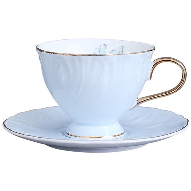 6fe8bbd2a6e US $19.98 30% OFF|Continental European Tea Set Ceramic Coffee Cup Suit  British Style High Grade Bone China Coffee Cup And Saucer With-in Cups & ...