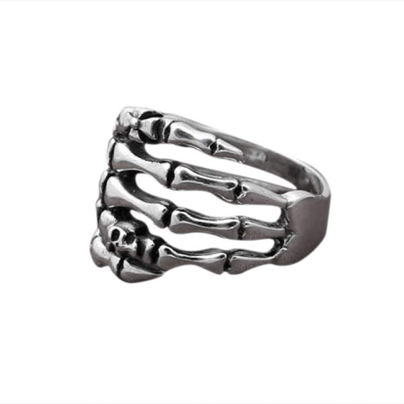 925 Sterling Silver Skeleton & Skull Ring