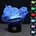 HUI YUAN 3D CONDUZIU A Lâmpada USB Luz da motocicleta Colorido Night Light para o Casamento Deco Inovador presente de Natal Presente