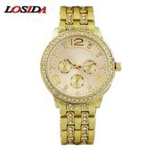 Losida Mens Watch Shock Fashion Casual Stainless Steel Quartz Wrist Watch Business Card Sports Watches relogio masculino Geneva