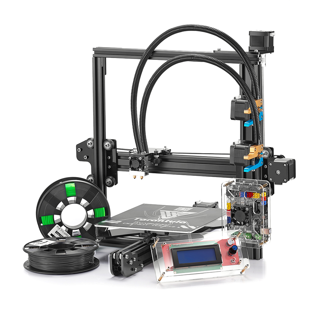 цена Tevo Tarantula Aluminum 3D Printer DIY Kit with 8GB SD Card Large Build Bed Aluminium Extrusion printing 2 Rolls Filament Gift