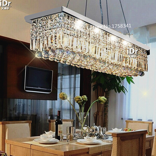 L500mm K9 Crystal Chandelier For Dining Room Rectangle NEW Modern