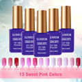 13 Sweet Pink Color Gel Nail Polish UV Gel Color Polish 15ml Soak Off Gelpolish Nail Primer Esmalte Spray Gel Lucky Lak