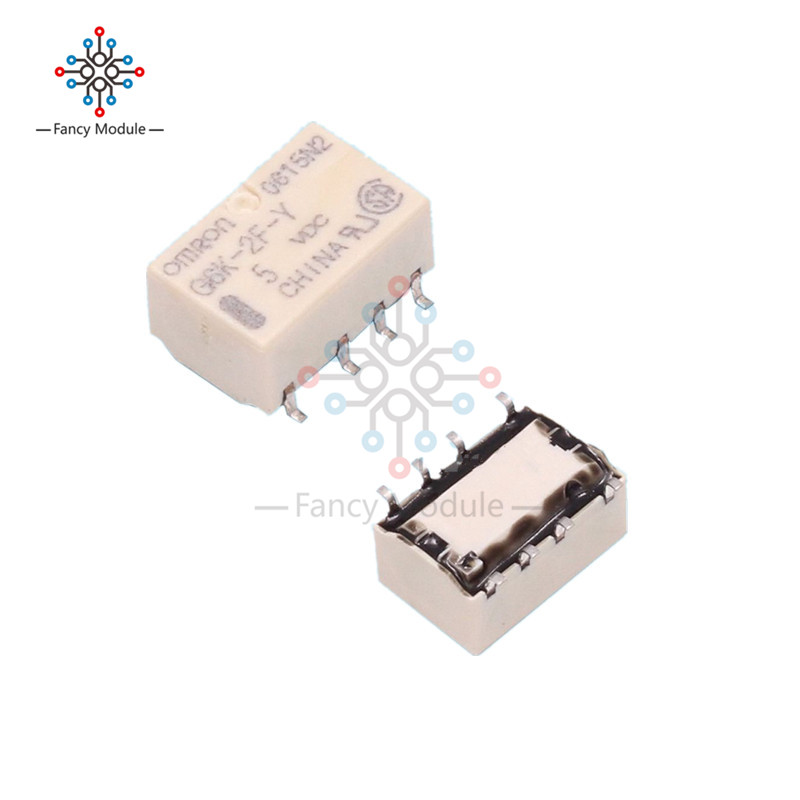 5PCS SMD G6K-2F-Y Signal Relay 8PIN for Omron Relay DC 5V 10pcs lot signal relay g6k 2f rf 12vdc 8 foot chip