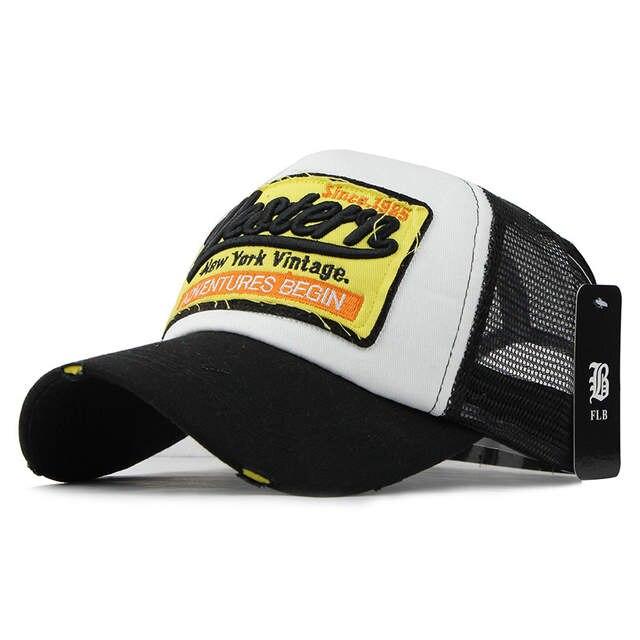 placeholder  FLB  Summer Baseball Cap Embroidery Mesh Cap Hats For Men  Women Gorras Hombre hats 0bc3a473fc11