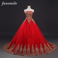 2016 Free Shipping Lace Wedding Dress Red Real Photo Long Train Plus Size Vintage Belt Ball