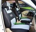 Veeleo (Delantero y Trasero) de Coche cubre Universal Coche Cubre Para TOYOTA Rav4 Corolla Camry Vitz Prius Auris Yaris Avensis 3D Tela