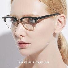 f8707e79ee Acetato de gafas de marco de Metal para los hombres ojo ronda anteojos  recetados para las mujeres de la miopía marcos ópticos ga.