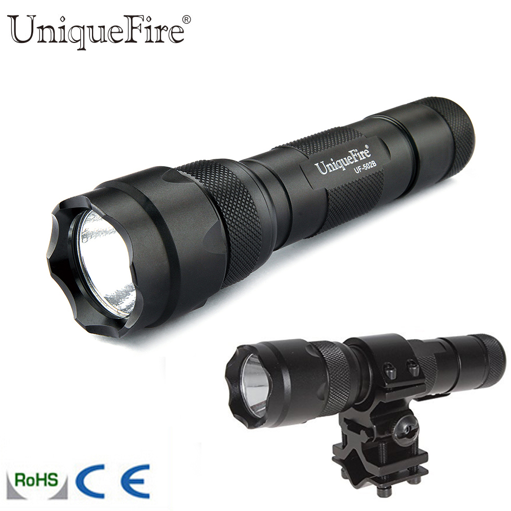 Lights & Lighting Logical Protable Led Flashlight Uf-502b-xre 3w Green/red/white Led Light 3 Modes 18650 Lamp Torch Qq07 Scope Mount For Hunting Trip