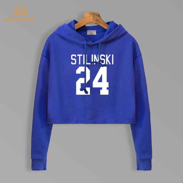 Teen Wolf Stilinski 24 Hot Sale Autumn 2018 Cropped Hoodie Women Harajuku Kawaii Crop Tops Short Style Sexy Hoodies Sweatshirts