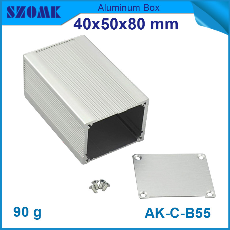10 piece a lot silvery aluminium housing enclosure heatsink junction case box 40 50 80mm