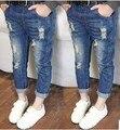 Новая Мода Дети Сломанные Отверстие Брюки Брюки Джинсы Мальчиков Девочек Джинсовые джинсы 2 3 4 6 8 9Y Весна Осень Длинные Брюки KJ-1547
