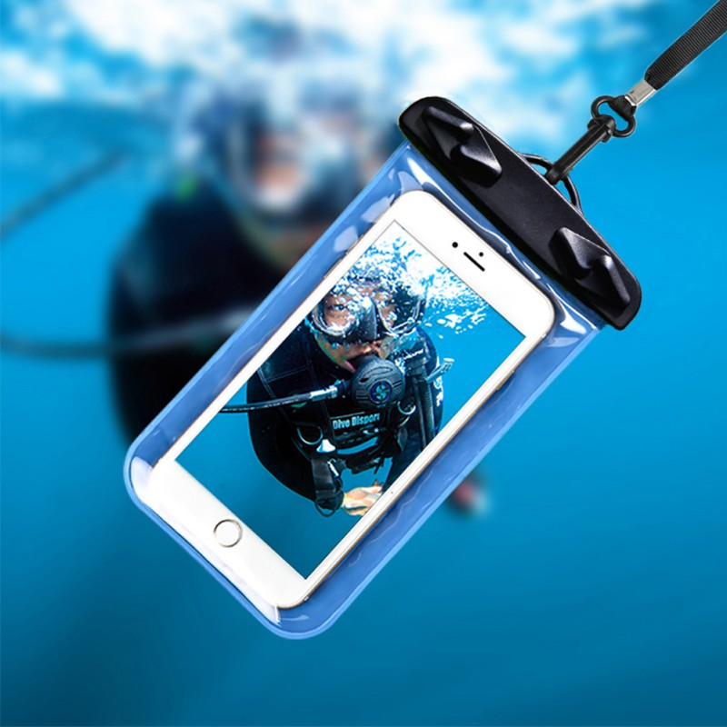 Round Folder Waterproof Bag Mobile Phone Bag Portable Swimming Waterproof Bag Rafting Water Sports Essential New