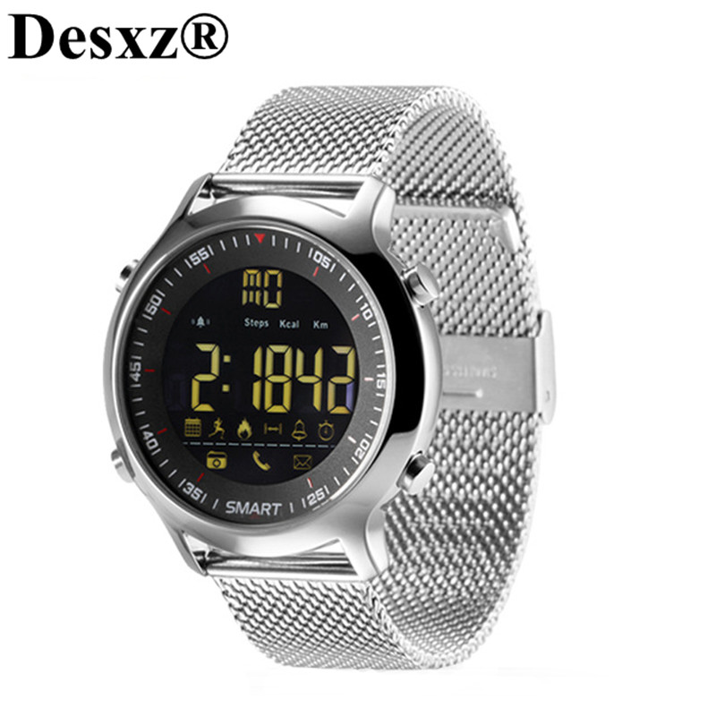 Desxz Smart Watch Bluetooth Support Call SMS Reminder Passometer Sports Activities Tracker IP67 Waterproof Smartwatch Wristwatch