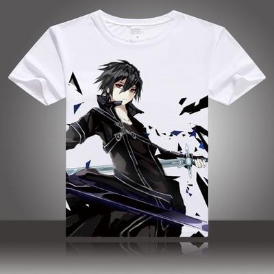 Cosplaydiy Sword Art Online Role Kirigaya Kazuto Asada Shino Cosplay Costume Adult Unisex T-shirt Top J5