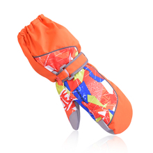 Прямая поставка; Новинка года; Детские Зимние профессиональные водонепроницаемые теплые перчатки для мальчиков и девочек; Рождественский подарок; лыжные перчатки для детей