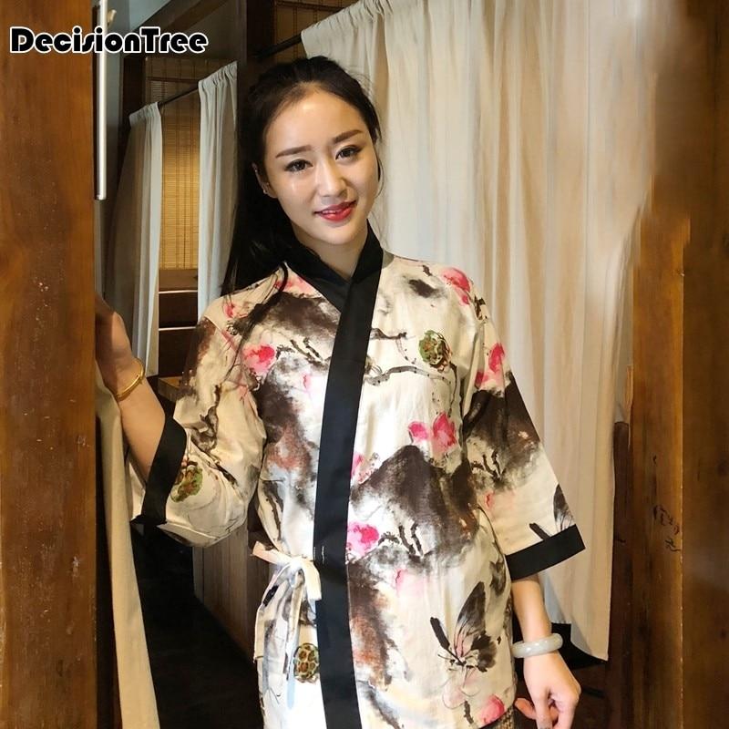 2020 Japanese Style Restaurant Cook Chef Aprons Cafe Hotel Waitress Kitchen Apron Cotton Linen