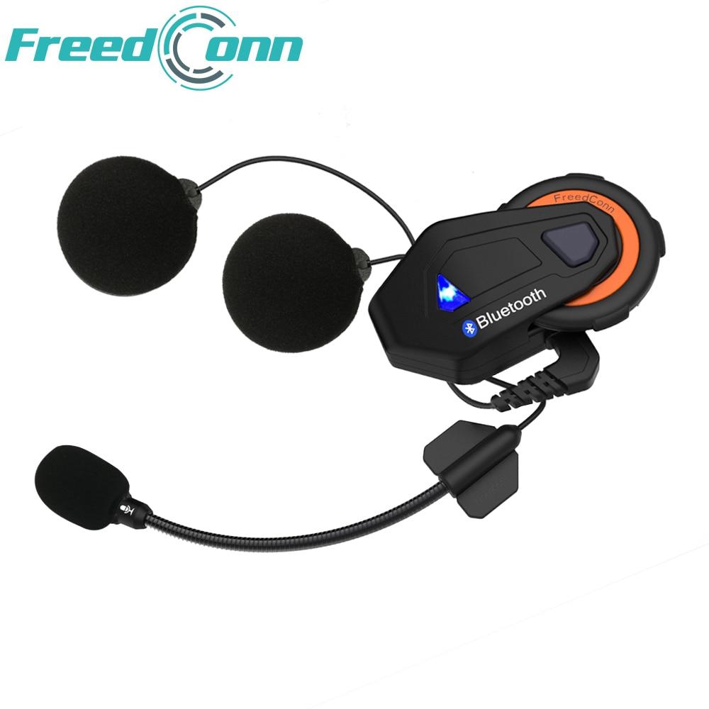 2018 New Freedconn T-MAX Motorcycle Headset 6 Riders Communication 1500m Motorbike Helmet Group Intercom FM Radio Bluetooth 4.1