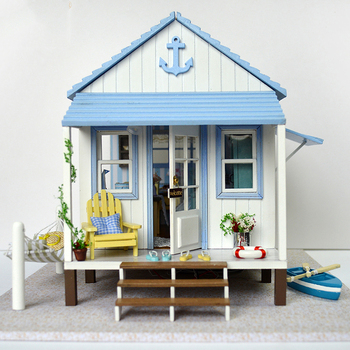 CUTE ROOM New With Furniture DIY Doll House Wooden Miniatura Doll Houses DIY Puzzle Assemble Dollhouse Toys For Children Gift