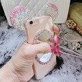 Funda Espelho de Luxo 3D Bling Diamante Rhinestone Mickey Minnie Orelhas de rato limpar macio tpu caso de telefone coque para iphone 6 6 s 7 além de