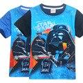 2017 New Star wars niños ropa niños traje de la historieta de la camiseta niños ropa Rogue Uno ropa niños camiseta de algodón para 4-12 Y
