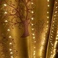 Iluminação do feriado 0.9 M 6*3 M 30 LEDs Luzes da Corda de Fio de Cobre À Prova D' Água LEVOU Cortina de Luz Para O Festival Decoração do natal