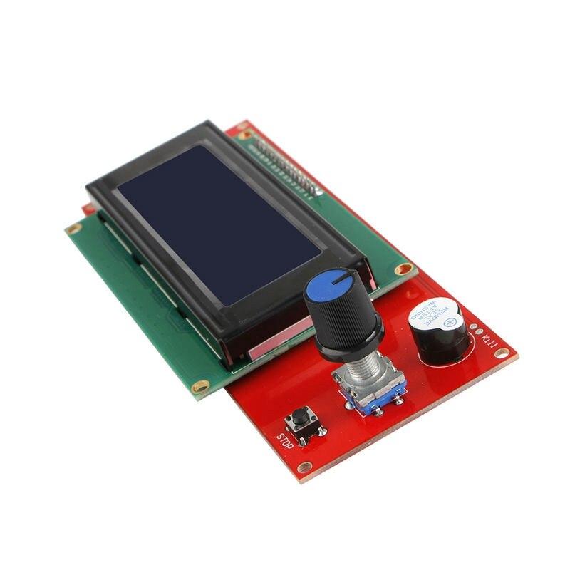 купить  Brand New Top Quality LCD 2004 Smart Display Controller For RAMPS 1.4 RepRap 3D Printer Electronics  по цене 452.36 рублей