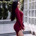 4 Цветов Осень Dress Sexy Mini Slim Office Dress Длинным Рукавом Бинты 2017 Spring Dress Твердые Халаты Vestidos